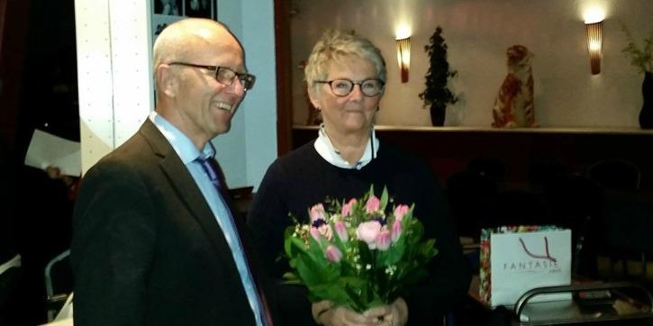 Vid föreningens årsmöte i Piteå den 19 mars 2016 avtackades den mångåriga styrelseledamoten Louise Lundgren av föreningens ordförande Claes-Åke Carlsson. Tack Louise för alla år!