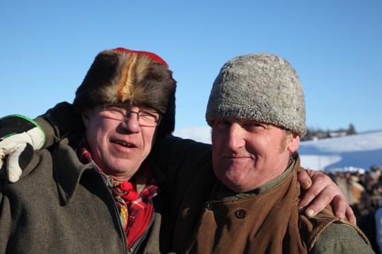 Bästa kompisarna, Gunnar och Karl Gunnar på sin årliga semester i Röros