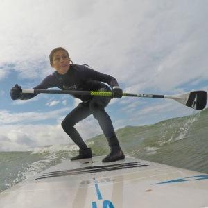 Downwind paddling i Onsala Sverige