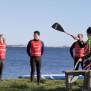 Turpaddling och teknikträning på SUP till ön Malön utanför Onsalahalvön.