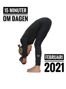 15 MINUTER OM DAGEN! FEBRUARI 2021 - YOGA ONLINE - FEBRUARI 2021