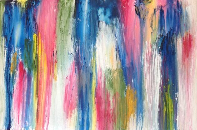 Rainbow 80 x 120 cm blandteknik 5500 kr
