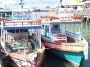 Båt till Koh Sameth