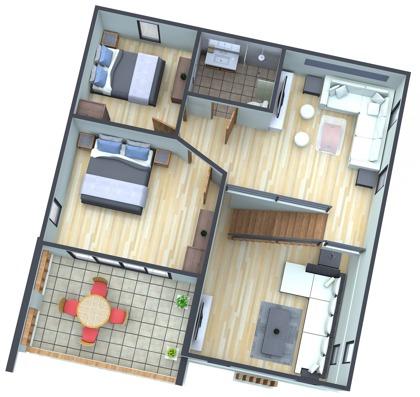 Planlösning våning två