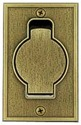 Standard floor, antique brass