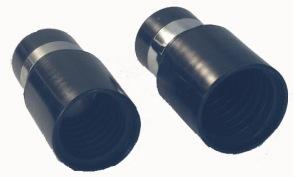 Ändmuff för sugslang - Ändmuff med metallring för slang Ø32