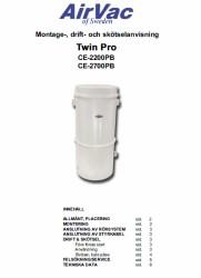 Montage & skötselanvisning för AirVac TwinPro 2200 & 2700