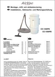 Montage & skötselanvisning för typ AirVac Flow 1500 (CE-1500PB)
