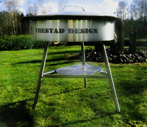 Stekhäll Ø 90cm med gasbrännare - Stekhäll med gasbrännare