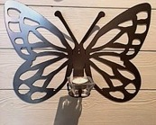 Fjäril stål Vägg