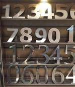 Fasadbokstäver o siffror