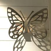 Fjäril Rostfri vägg