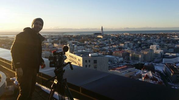 Besök på Island under inspelningen av Panama dokumenten.