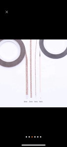 Nail stripes Rose Gold - 1 mm glansig