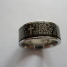 Blank ring i stål med bibletext