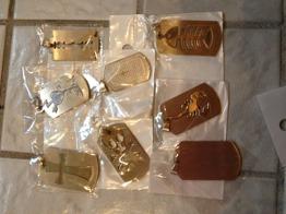 Blandade ID-brickor i stål -