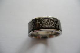 Blank ring i stål med bibletext - Blank ring m bibeltext st 7