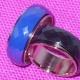 Ring, bred i stål blå,vit eller svart - Bred ring svart st 6