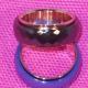 Ring, bred i stål blå,vit eller svart - Bred ring svart st 7