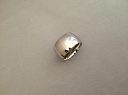 Ring i stål, bred silverfärgad - Bred ring silver st 7