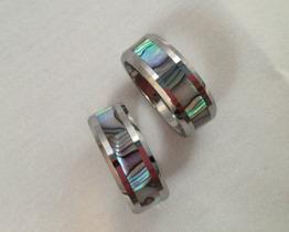 Ring, bred i stål med fina mönster - Ring m mönster Silver st 7
