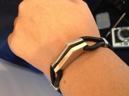 Armband i gummi och stål - Armband i stål och gummi