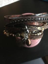 Brunt armband i läder - Brunt läderarmband