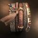 Armband beige,brunt med pärlor - Armband Beige brunt