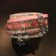 Armband i läder m sommarkänsla - Armband sommar Rosa