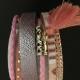 Brett läderarmband i flera färger - Brett armband rosa