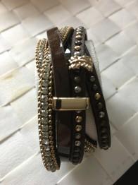 Mörkbrunt läderarmband - Mörkbrunt läderarmband
