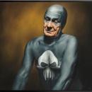 Andreas Englund, Strangling (olja på canvas, 86x82 cm)