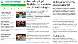 Faksimil från Smålands-Tidningen