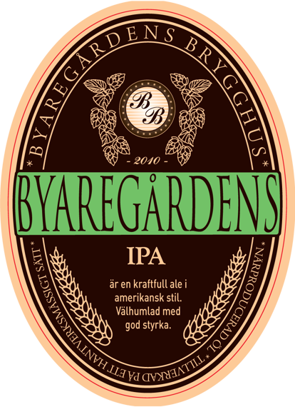 Lokal klassisk IPA från Byaregårdens Brygghus utanför Varberg – en lokal öl från Hallands första mikrobryggeri.