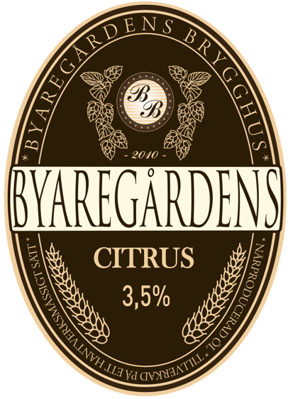 Byaregårdens Folköl Citrul - ett äkta halländskt hantverksöl (craft beer)
