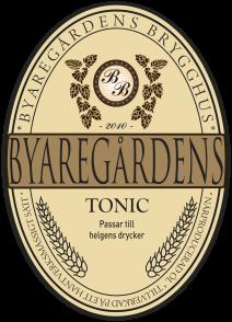 Byaregårdens Tonic är en hantverksbrygd alkoholfri slow drink från Byaregårdens Brygghus i Varberg, Halland