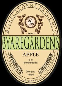 Byaregårdens Äpple läsk är en hantverksbrygd alkoholfri slow drink från Byaregårdens Brygghus i Varberg, Halland