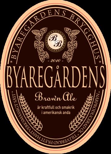Lokal klassisk Brown Ale, kraftfull & smakrik i amerikansk anda från Byaregårdens Brygghus utanför Varberg – en lokal öl från Hallands första mikrobryggeri.