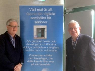 Krister Karlsson och Anders Magnusson lockade stor publik denna dag.