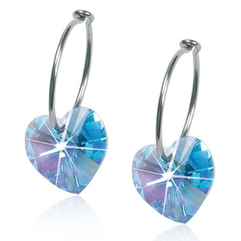 Blomdahl - HEART AQUAMARINE, 10 MM