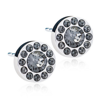 Blomdahl - BRILLIANCE HALO BLACK DIAMOND, 8 MM