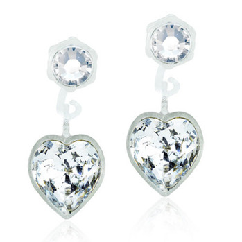Blomdahls - PENDANT HEART CRYSTAL, 4/6 MM
