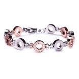 Edblad - Eternity multi bracelet rosegold/steel