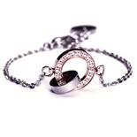 Edblad - Eternity orbit thin bracelet rosegold/steel