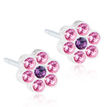 Blomdahl - DAISY LIGHT ROSE/AMETHYST, 5 MM