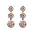 Lily and Rose - Sienna crystal (Rose gold)