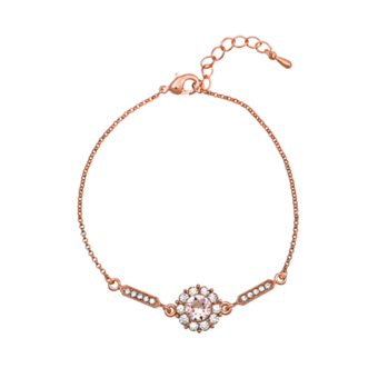Lily and Rose - Miss Sofia silk (rose gold) armband