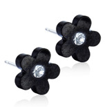 Blomdahl - FLOWER CRYSTAL, 8 MM black