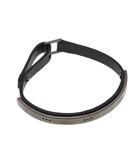 Dots Bracelet Leather Black Steel