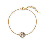 Lily and Rose - Miss Miranda bracelet light silk (guld)